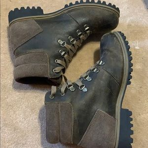 Distressed timberland boots
